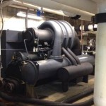 Existing chiller is a 250 ton centrifugal chiller utilizing R-11 refrigerant and  electro-mechanical type controls.  Maintenance Costs, reliability and equipment efficiency warranted the opportunity for the upgrade.