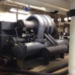 Existing 250 ton Centrifugal  Chiller before dismantled and removed.
